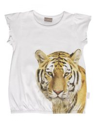 T-shirt - Claire Tiger Puf Hvid