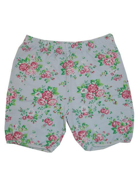 Shorts - bombiBitt Lt Blue Blomst