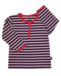 T-shirt - Minymo Stripes Purple