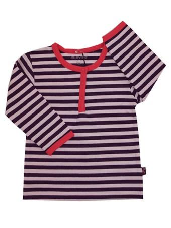 T-shirt - Minymo Stripes Purple