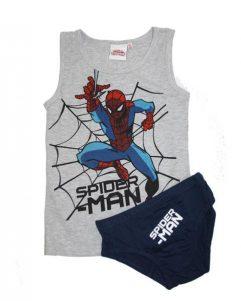 Undertøjssæt - Spiderman Grå