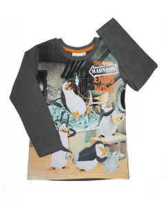 T-shirt - Pingviner Grey