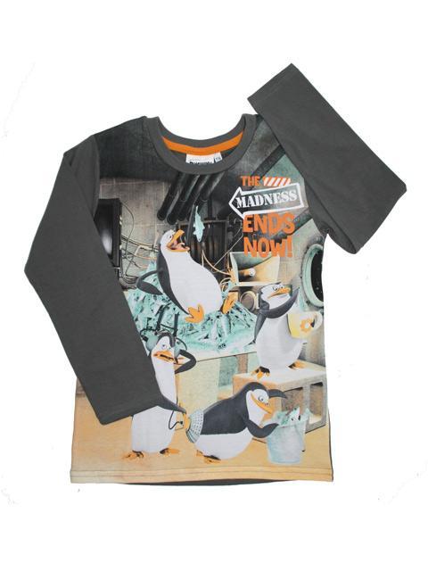 T-shirt - Pingviner Grey