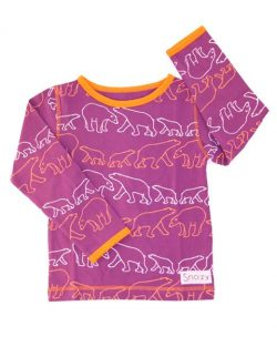 T-shirt - Snoozy Purple Polarbear