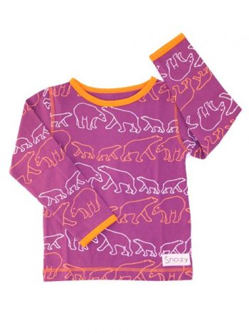 T-shirt - Snoozy Purple Polarbear